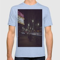 Small Town, Fast Lights Mens Fitted Tee Athletic Blue SMALL