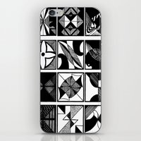 Lines And Curves iPhone & iPod Skin