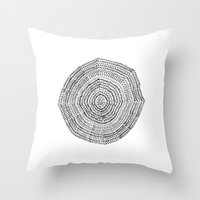Vacancy Zine Mandala I B&W Throw Pillow