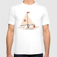 Sailing Towards Future Unknowns Mens Fitted Tee White SMALL