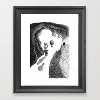 Walking With A Friend Framed Art Print