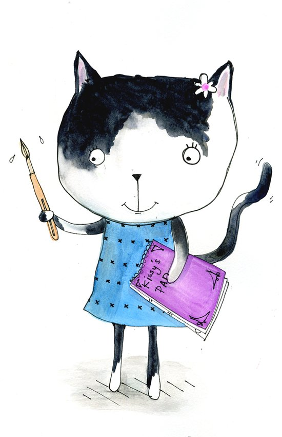 Creative Mono Cat  Art Print