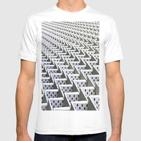 The Dots Mens Fitted Tee White SMALL
