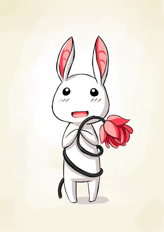 Bunny Flower Art Print