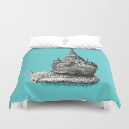 The Snail's Dream (monochrome option) Duvet Cover