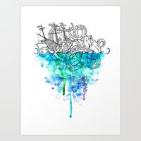 From The Deep, Deep Down… Art Print