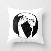 moonlight hands Throw Pillow
