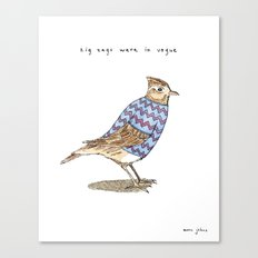 Zig zags were in vogue Canvas Print
