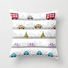 City travel Throw Pillow