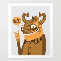 Monster Trucker Art Print