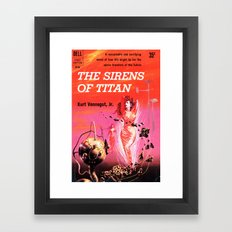 Vonnegut -  The Sirens of Titan Framed Art Print