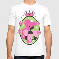 Princess Silhouette White SMALL Mens Fitted Tee