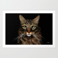 The Cats Eyes Are Green Art Print