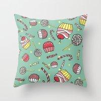 Candy Shop Throw Pillow