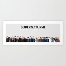Supernatural Cast Art Print