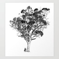 Tree and Gangster Art Print