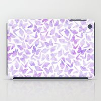 Purple Watercolor Butterflies Pattern iPad Case