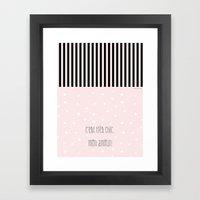 C'est très chic, mon amour Framed Art Print