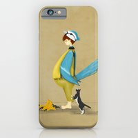Blue Chickadee iPhone 6 Slim Case