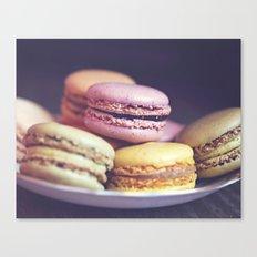 macarons on the windowsill Canvas Print