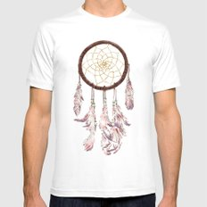 dreamcatcher purple White SMALL Mens Fitted Tee