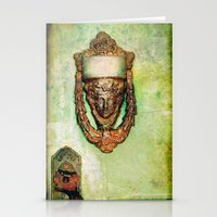 Brass Knocker Stationery Cards