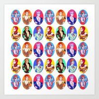Glam Bowie Pattern  Art Print