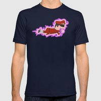 Psycho Crusher Mens Fitted Tee Navy SMALL