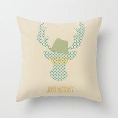 Deer Hipster Throw Pillow