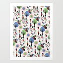 Beautiful day pattern Art Print