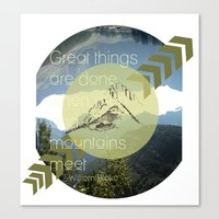 Great things Canvas Print