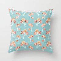 Anemone Flowers :: Sea M… Throw Pillow