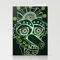 Weirdo Mask Stationery Cards
