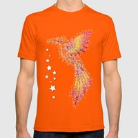Bubble Bird Mens Fitted Tee Orange SMALL