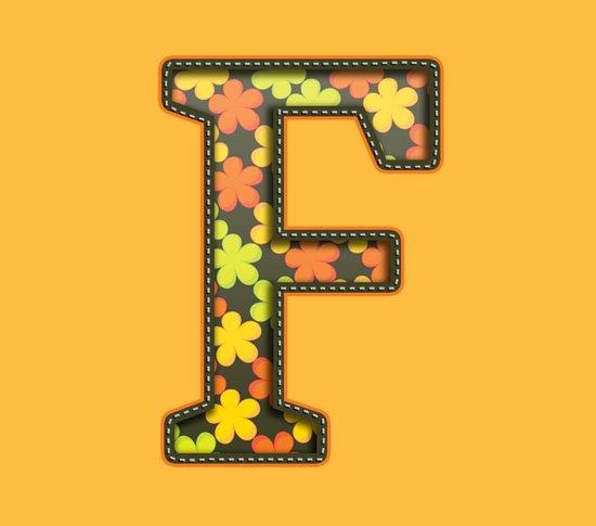 "The Letter ""F"" Art Print"