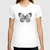 butterfly T-shirts featuring Butterfly by Hermes_GC