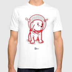 Space Puppy SMALL Mens Fitted Tee White