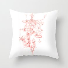 Abstract Lines, Linear Pyramid Space Throw Pillow