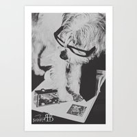 Reading Dog Art Print