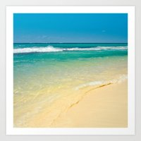Maui Beaches Into The Bl… Art Print
