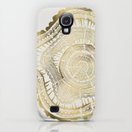 Gold Tree Rings Galaxy S4 Slim Case