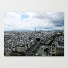 Paris Skyline with Eiffel Tower Canvas Print
