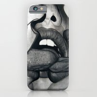 iPhone & iPod Case featuring Tongue Tied by ARTEATCHOKE