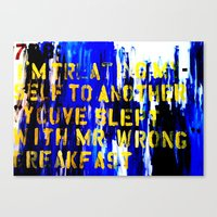 Texting 789: Canvas Print