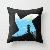 Playground Borders Throw Pillow
