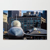 On The Deck Of The Intre… Canvas Print