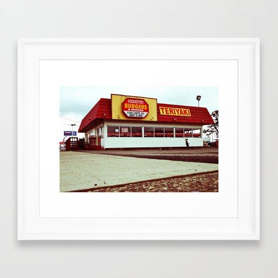 Monster Burgers Framed Art Print