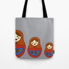 3 Matroyshkas Tote Bag