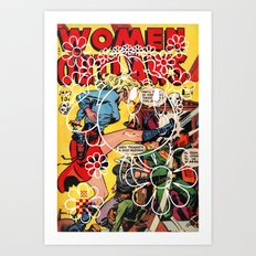 Women Outlaws Tweety Croatan Art Print