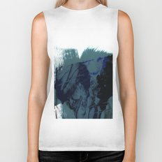 brush strokes 8 Biker Tank